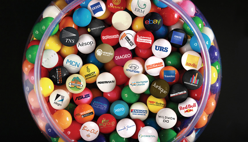 Large Gumball image of client logos